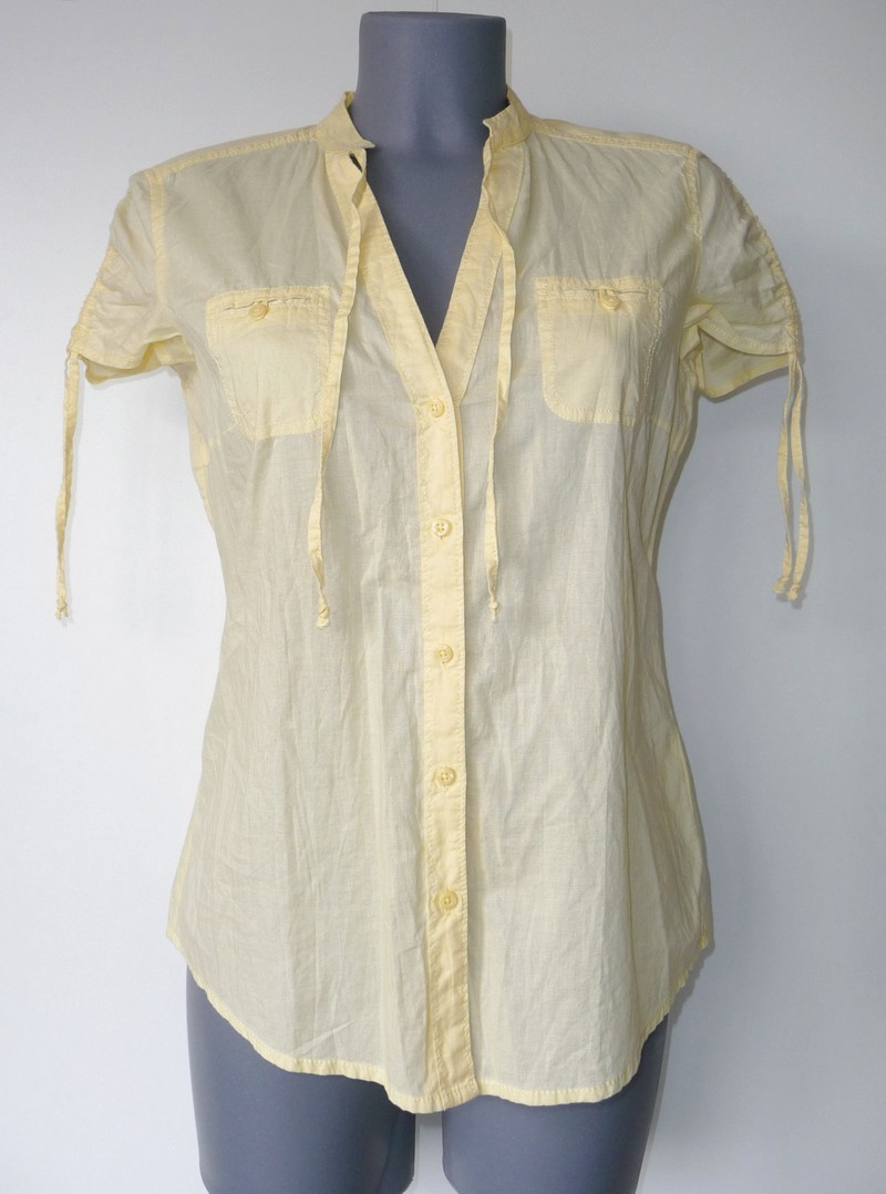 Zomerse hemdsblouse met kapmouwtjes