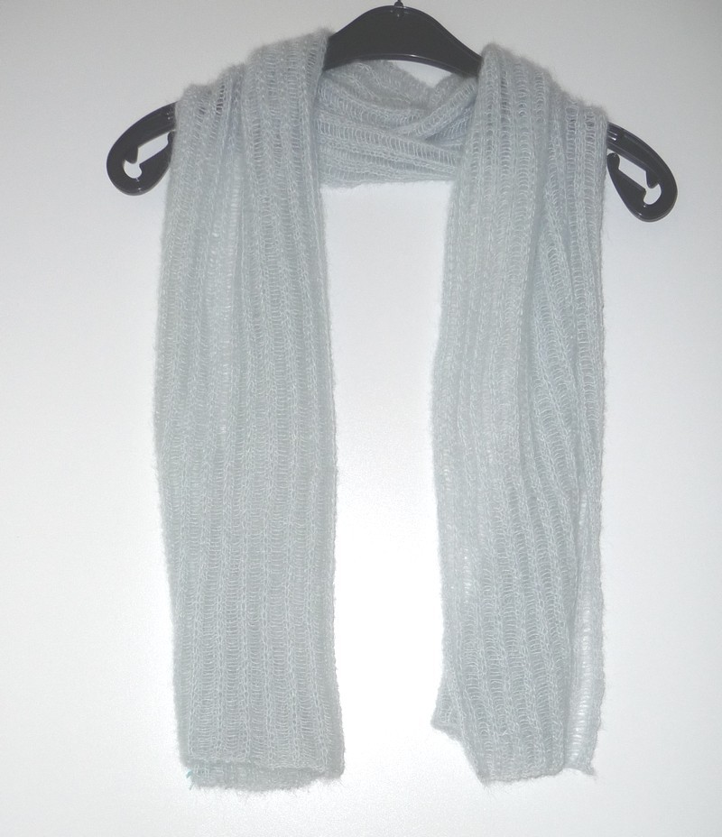 Ragfijne gebreide sjaal in mohair wol - Tescity