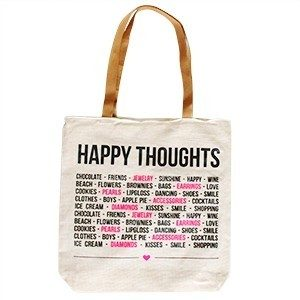 Happy Thoughts Nature Bag met ritssluiting