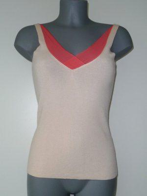 Topje uit cashmere en zijde