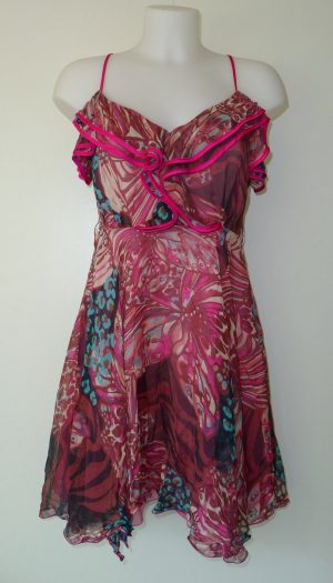 Zomerse chiffon jurk