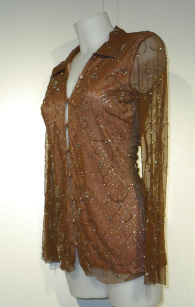 Transparante bloes met strass