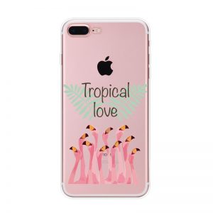 Transparant GSM hoesje Tropical Love