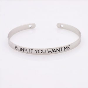 Quote vriendschaps armband