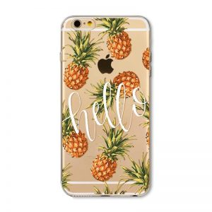 Transparant GSM hoesje Ananas