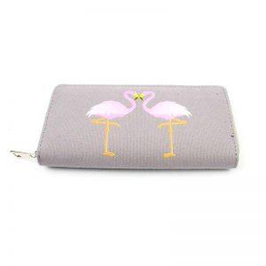 Canvas portemonnee Flamingo's