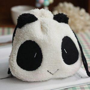 Panda tasje met trekkoordjes