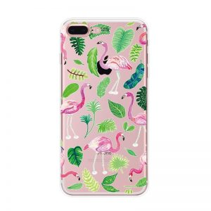 Transparant GSM hoesje Flamingo Forrest