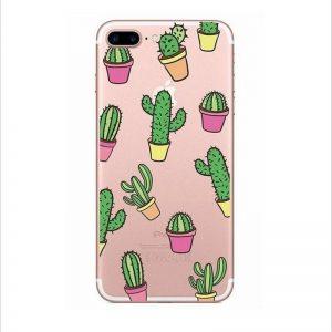 Transparant GSM hoesje Cactus