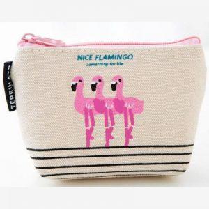 Portemonnee - sleuteltasje Nice flamingo