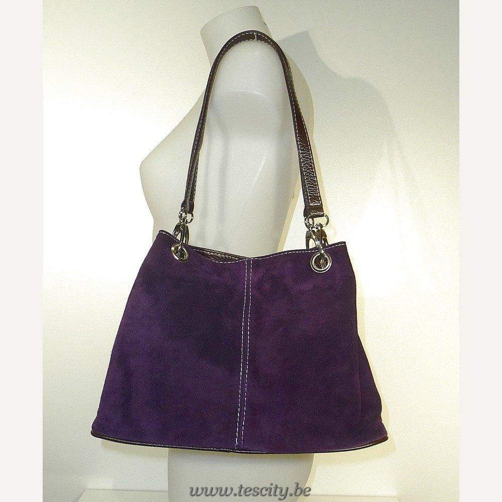 Handtas Purple Suede