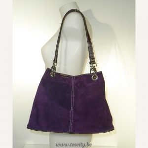 Handtas Purple Suede