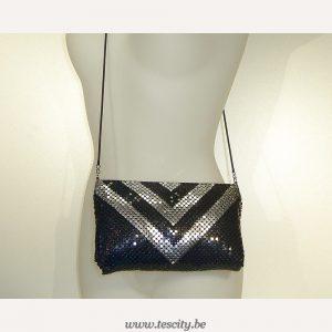Handtas Riha Zwart-Zilver